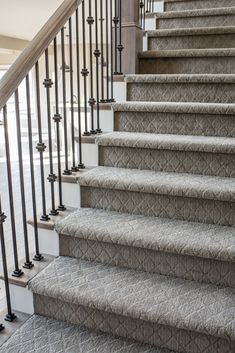 Banisterremodel Banister Remodel In 2019 Carpet Stairs Basement – carpet stairs Textured Carpet, Patterned Carpet, Banisters, Stair Railing, Railings, Carpet Diy, Cheap Carpet, Carpet Ideas, Hall Carpet