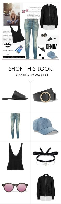"""""""Tear it Up: Distressed Denim"""" by likepolyfashion ❤ liked on Polyvore featuring Robert Clergerie, Frame, R13, rag & bone, See by Chloé, Miu Miu, Illesteva, 3.1 Phillip Lim, Anya Hindmarch and distresseddenim"""