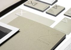 Teixidors brand identity and stationery designed by Clase bcd.