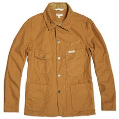 Engineered Garments Coverall Jacket (Brown 11.5oz Duck Canvas) (black, navy, brown)