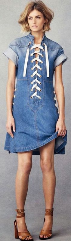 -Gucci. DENIM DRESS