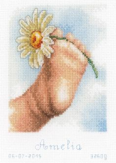 Baby Foot Birth Record Cross Stitch Kit - £21.25 on Past Impressions | by Vervaco