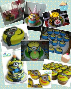 Minion cakes and cupcakes!