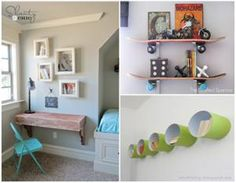 Why buy expensive shelving? Make your own one-of-a-kind, DIY shelves with these fun and creative ideas for kids' rooms.