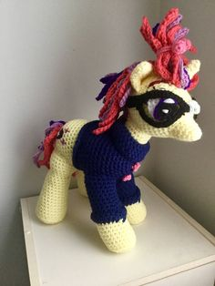 """Made to Order: Crochet Amigurumi """"My Little Pony"""" Inspired Moon Dancer Unicorn Plush--FREE shipping by ShimmereeCreations on Etsy"""
