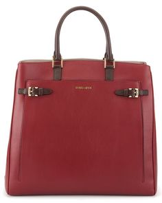 Trussardi Womens Leather Tote