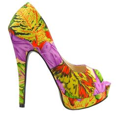Show Story Women's Tropical Exotic Printed Peep Toe Stiletto Platform Pump Heels Shoes,YF04311GR41,9US,Multiple(Green). Features floral print all over, scoop vamp, sexy platform, and wrapped heel. Finished with padded insole and easy slide style. This kind of satin crumples easily on heel.Please note that the pattern is different in every shoe!. Please Use the Sizing Chart Image on the Left. Sometimes, our estimated size is not the same as the labeled size due to large or small make of an…