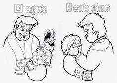 Resultado de imagen para simbolos del bautismo para niños a color