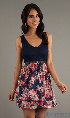 Cute for the end of Summer/beginning of Fall or the end of Fall/beginning of Spring weather.   SimplyDresses.com
