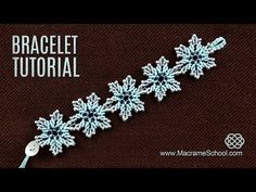 Frozen Flower Bracelet Tutorial by Macrame School - YouTube