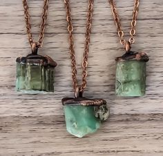 BACK IN STOCK BABES || Raw Emerald and Copper Necklaces
