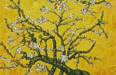 Violet & Olive — branches of an almond tree in blossom (1890) - van...