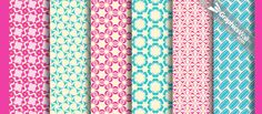 Tileable Vector Patterns - 6 Patterns .pat, .png, .ai & .psd