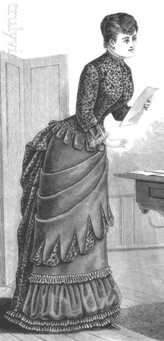 Delineator September 1883; via Truly Victorian. Make the overskirt?