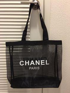 a0b63d2a7094 Chanel beauty VIP gift mesh tote beach bag