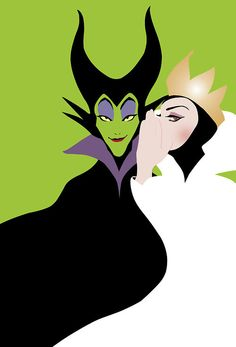 Wicked Maleficent and Evil Queen Grimhilde