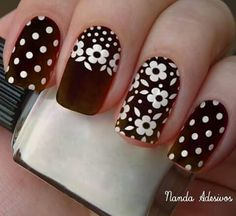 Acrylic Nail Designs, Nail Art Designs, Acrylic Nails, Daisy Nails, Flower Nails, Stylish Nails, Trendy Nails, Nagel Hacks, Fabulous Nails