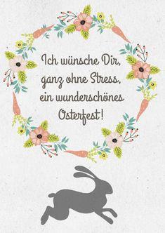 Ostern Ohne Stress Osterwuensche Grusskarte