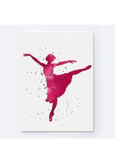 Ballerina Watercolor Painting Ballet Dancer Poster by Silhouetown