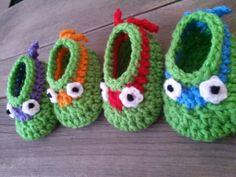 Ninja Crochet Booties Pattern