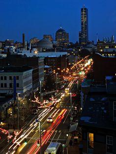 Central Square at night. DiscoverCentralSquare.com.