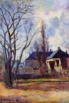 """""""Winterende"""", öl auf leinwand von Paul Gauguin (1848-1903, France)"""