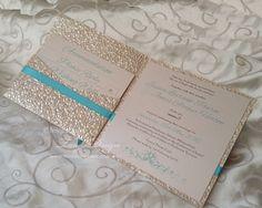Invitacion Participacion de bodas con bolsillo MUESTRA con