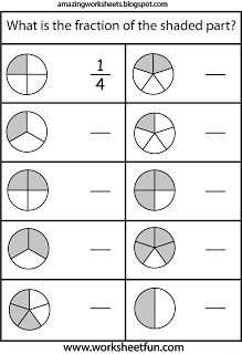 Fraction Circles - 11 Worksheets - 1/2,1/3,1/4,1/5,1/6,1/7,1/8,1/9 ...
