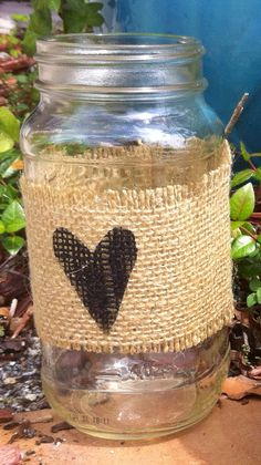 Burlap Labels for Mason Jars by PetalsandChalk on Etsy, $5.00