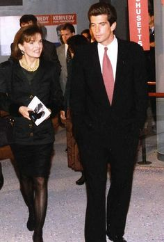 Jackie Onassis and John Kennedy at the October 1993 rededication of the JFK Library and Museum.