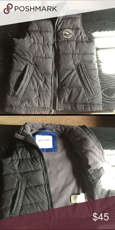 Abercrombie kids winter vest size Large Navy/ gray fleece on inside, great shape Jackets & Coats Vests