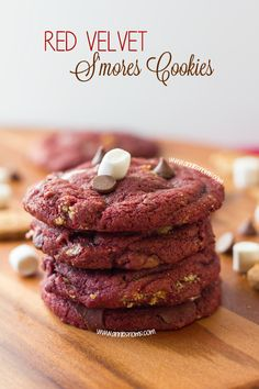 Red Velvet S'mores Cookies - REASONS TO SKIP THE HOUSEWORK