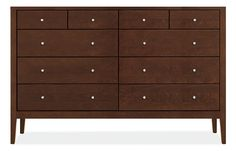 The Calvin dresser combines classic style with the time-tested durability and beauty of solid wood. Featuring gently tapered legs, each piece is built one at a time by Oregon woodworkers who use Pacific Coast maple or the highest quality solid ash to showcase the unique, natural wood grain in a timeless design.