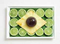 edible decorations, national flags made with food