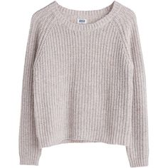 MTWTFSS Weekday Lu knit sweater Beige Light ❤ liked on Polyvore featuring tops, sweaters, shirts, jumpers, mtwtfss weekday, knit sweater, beige sweater, beige knit sweater and shirts & tops