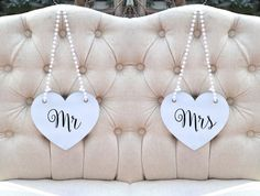 MR And MRS Wedding Signs With GOLD or Black by KimeeKouture