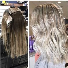 """1,025 Likes, 11 Comments - Kim Bruce (@themisfitblonde) on Instagram: """"Chop chop 🔪🔪 and second session going blonder! On my beautiful client! full foil and endlight…"""""""