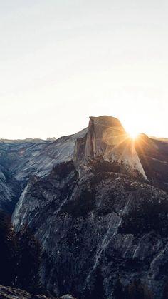 Mountain Sunshine Rock Wood Nature #iPhone #6 #plus #wallpaper
