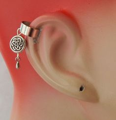 219fcc72e Celtic Knot Charm Drop/Dangle Ear Cuff Handmade Jewelry Silver Fashion NEW.  Sterling ...