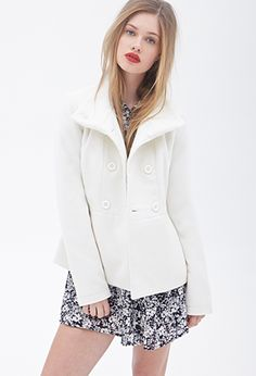 Classic Double-Breasted Coat | FOREVER21 - 2000060242