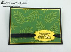 jpp - Dschungel Karte / Jungle Card / Blätter / Leaves / Stampin' Up! Berlin / Botanical Blooms / Pflanzen Potpourri / Große Klasse www.janinaspaperpotpourri.de