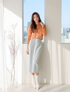 Teenager Outfits, College Outfits, Office Outfits, Korean Fashion Dress, Fashion Dresses, Cute Teacher Outfits, Semi Formal Outfits, Lawyer Fashion, Feminine Dress