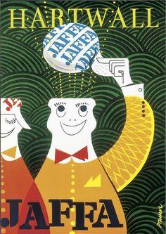 Jaffa Hattu 1962 by Erik Bruun Finland Vintage Advertisements, Vintage Ads, Vintage Posters, Retro Poster, Poster Ads, Old Commercials, Good Old Times, Kunst Poster, Ad Art