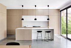 Modern Kitchen Interior Fitzroy North Home by Zunica Interior Architecture Kitchen Sets, New Kitchen, Kitchen Decor, Cozy Kitchen, Wooden Kitchen, Modern Kitchen Design, Interior Design Kitchen, Interior Decorating, Kitchen Designs
