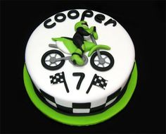 Motocross theme for a little boys 7th birthday.  Cake is 10, everything done in fondant.  I had a lot of fun with this one!  Comments and constructive criticism are always appreciated!