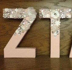 Floral Glitz Sorority Letters GlitzLetterz for the by GlitzPaddlez, $30.00.  Switch to ASA and make it Beauty and The Beast themed