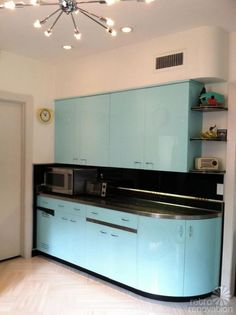 Robert and Caroline's mid century home with dreamy St. Charles kitchen cabinets - Retro Renovation