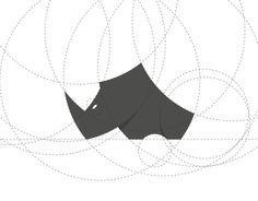 Simple, minimalist mark of Rhino.