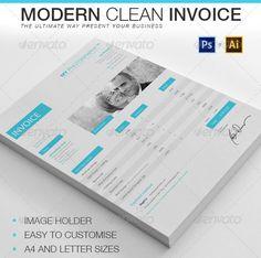 Modern Clean Invoice dengan Desain Modern