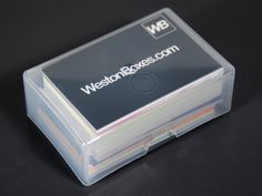 Blue plastic business card wallet from westonboxes with business plastic packaging boxes presentation boxes and storage boxes for artists crafters and printers clear plastic business card colourmoves